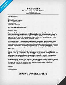 Cover Letter Examples For Nanny Position Nanny Cover Letter Sample Amp Writing Tips Resume Companion