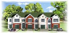 traditional fourplex multi family house plan 83132dc