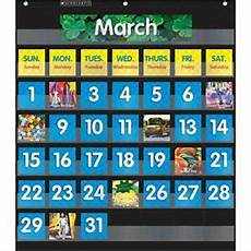 Scholastic Calendar Pocket Chart Scholastic Sc 583866 Monthly Calendar Pocket Chart With