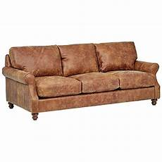 beam charles classic oversized leather sofa 92 quot w