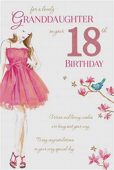 birthday card templates for granddaughter granddaughter 18th birthday card