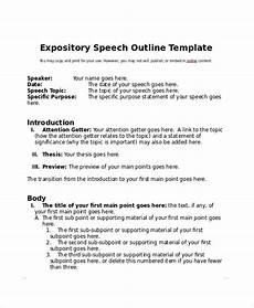 Ceremonial Speech Outline Free 8 Sample Speech Outline Templates In Pdf Ms Word