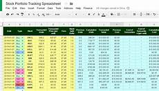 Investment Tracking Spreadsheet The Best Free Stock Portfolio Tracking Spreadsheet Using