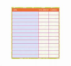 Chore Template Chore List Template 10 Free Word Excel Pdf Format