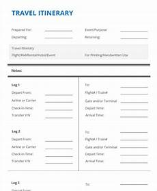 itinerary format 24 itinerary format templates free amp premium templates