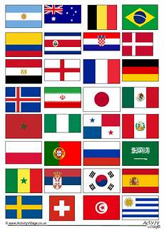 Flags Of The World Chart Printable World Cup 2018 Flags