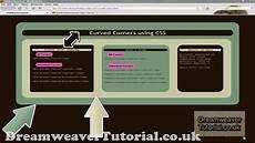 Css3 Design Tutorial Css3 Rounded Corners Web Design Tutorial Dreamweaver