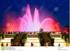 Barcelona Night Light Show Magic Fountain Light Show Barcelona Stock Image Image