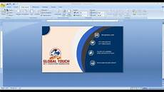 How To Make Business Cards In Word 2020 How To Make Business Card Design In Ms Word Visiting