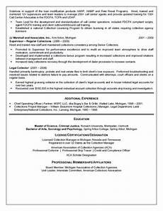 Collection Manager Resume Collection Manager Resume