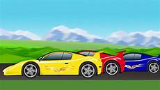 Cartoon Cars Sports Car Race Cartoon Car Racing For Children Youtube