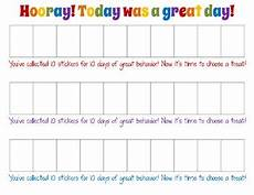 Good Behaviour Charts To Print Off Easy Printable Behavior Chart For Teachers Amp Parents By
