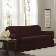 mainstays newman stretch 1 sofa slipcover burgundy