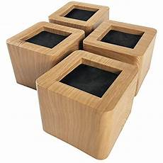 bed risers 3 inches heavy duty wooden color furniture