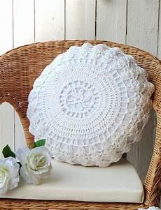 uncinetto cuscini dettagli su cuscino arredo blanc mariclo tondo crochet