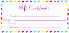 Gift Certificate Prints Printable Gift Certificate Birthday Printable Birthday