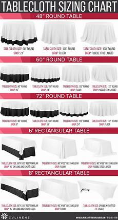 Table Linen Length Chart 10 Best Table Linen Size Guide Images On Pinterest