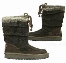 womens skechers 46653 ccl boots knit suede faux fur