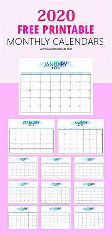 Print Free Monthly Calendar 2020 Free 2020 Calendar Printable Simple And Very Pretty
