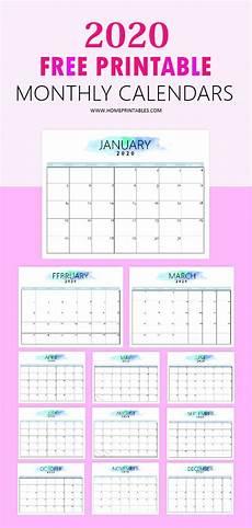 Free Printable Monthly Calendar 2020 Free 2020 Calendar Printable Simple And Very Pretty
