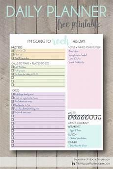 Agenda Daily Online Free Printable Daily Planner Mrs Happy Homemaker