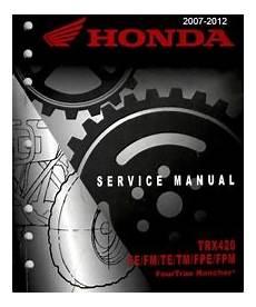 Honda Atv Service Manuals Maintenance And Repair Manual