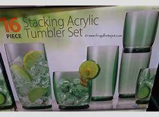Costco Deal: 16 Piece Stacking Acrylic Tumbler Set