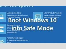 How to Boot Windows 10 into Safe Mode   YouTube