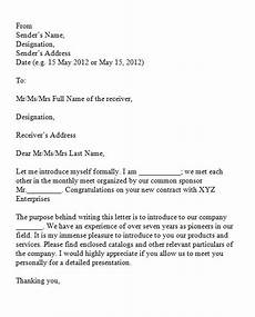 Formal Letters Introduction 40 Letter Of Introduction Templates Amp Examples
