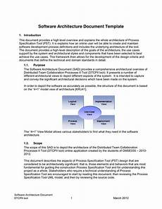 Application Design Document Sample Software Architecture Document Template In Word And Pdf