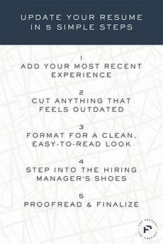 How To Update Your Resume How To Update Your Resume In 5 Simple Steps The Prepary