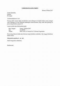 download contoh surat undangan tidak resmi dalam acara