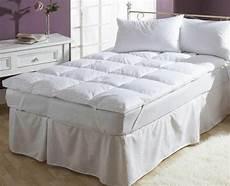 luxury duck feather mattress topper matress cover