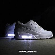 Air Light Shoes Men S Triple White Nike Air Max 90 With Led Lights