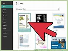 Best App To Make Flyers How To Create A Flyer Using Microsoft Publisher 11 Steps