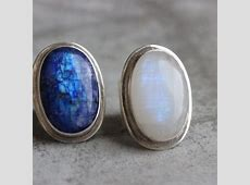 Buy Statement Ring, Bold rainbow moonstone silver ring
