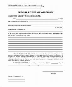 Special Power Of Attorney Sample Free 8 Simple Power Of Attorney Forms In Pdf Word