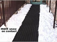 Snow Melting Heat Mats, Snow & Ice Melting Systems, Heated Floor Mats for Stairs, Driveways