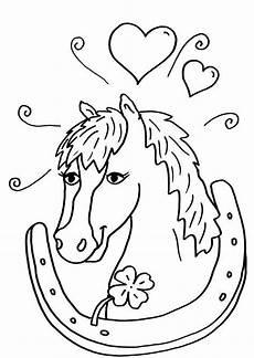 Malvorlage Pferd Zum Ausdrucken Ausmalbild Pferde Pferd Und Hufeisen Kostenlos Ausdrucken