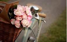 Flower Wallpaper Vintage Hd by Desktop Wallpaper Bicycles And Flowers Wallpapersafari