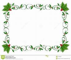 Christmas Card Borders Free Christmas Border Holly Ornamental Stock Illustration
