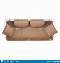 Sofa Pillows Decorative Sets Brown 3d Image by Brown Leather Sofa With Pillows On A White Background Top