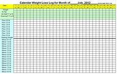 Weight Calendar Chart July Weight Loss Calendar