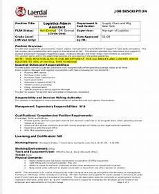 Admin Assistant Job Description Sample Logistics Assistant Job Description Sample 9 Examples