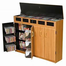 venture horizon media cabinet with lid top oak black