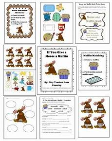 If You Give A Moose A Muffin Pdf If You Give A Moose A Muffin 7 Activities Worksheets