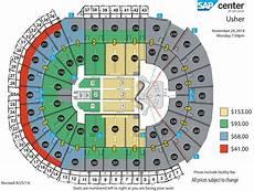 Usher Hall Seating Chart Usher The Ur Experience Sap Center