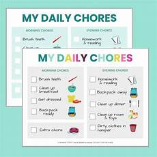 5 Year Old Chore Chart Printable Free Printable Chore Chart For 5 6 Year Olds The
