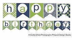 Birthday Sign Template Diy Blue Green Happy Birthday Banner Printable