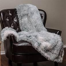 chanasya soft shaggy faux fur print throw blanket